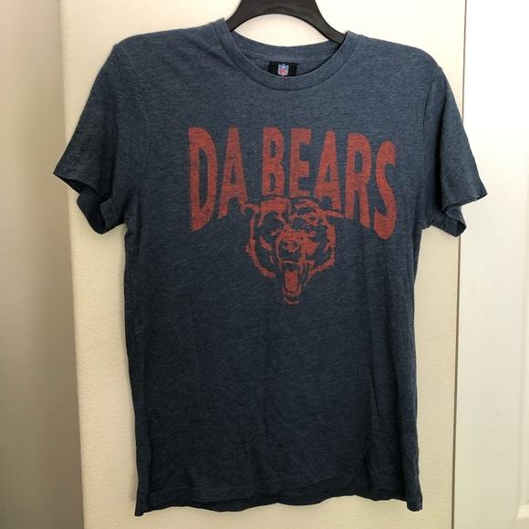"""best service 238b7 173ed Chicago Bear """"Da Bears"""" NFL Blue T-Shirt"""